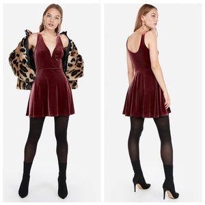 Express Deep V-wire Skort Dress